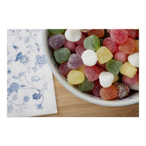 Candy in Bowl Poster