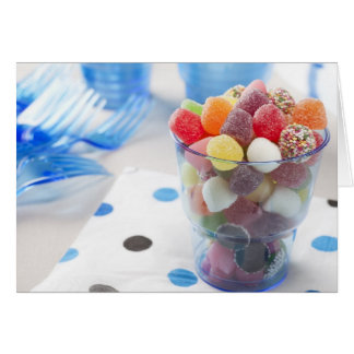 Candy in Cup Greeting Card