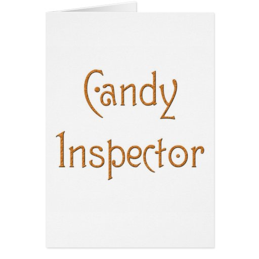 Candy Inspector Cards