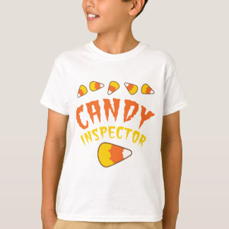 CANDY INSPECTOR Halloween design with candy corn T-Shirt