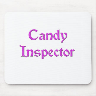 Candy Inspector Mouse Pad