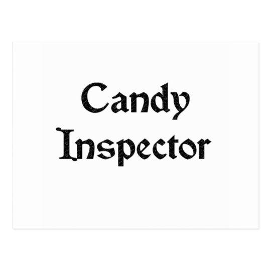 Candy Inspector Postcard