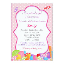 Candy Invitation Baby Girl Shower Pink