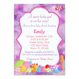 candy baby shower invitations announcements zazzle