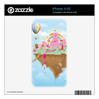 Candy Island Decals For iPhone 4