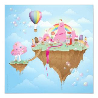 Candy Island Custom Invitation