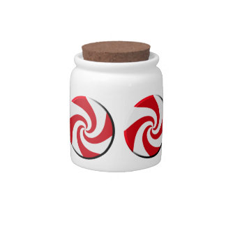 Candy Jar - 4 Peppermint Swirls