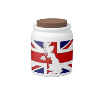 CANDY JAR BRITISH FLAG