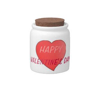 CANDY JAR HAPPY VALENTINES DAY