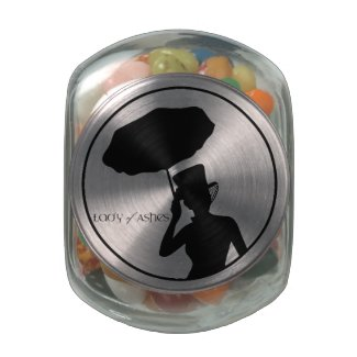 Candy Jar, Lady of Ashes Glass Jar