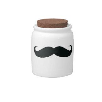 Candy Jar - Mustache