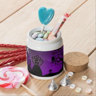Candy Jar - Purple & Black Unicorn Silhouette