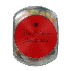 Candy Jar Wedding Favor Glass Candy Jar at Zazzle