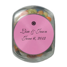 Candy Jar Wedding Favor Jelly Belly Candy Jar at Zazzle