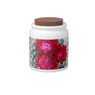 Candy Jar with Cactus Blooms