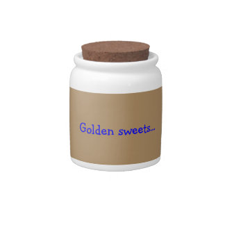 Candy Jar with gold
