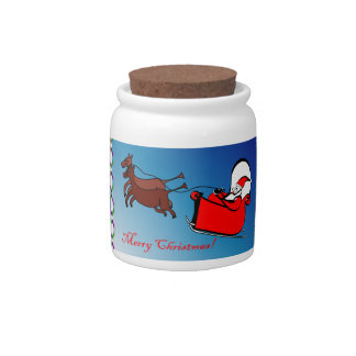 Candy Jar with Santa in his Sleigh