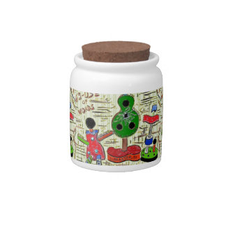 Candy Jar with Surreal Art