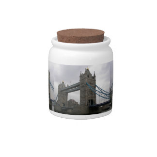 Candy Jar  with Tower Bridge over the Thames River