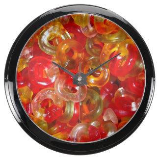 Candy Jelly Rings Fish Tank Clocks