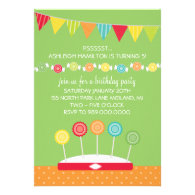 Candy Kids' Birthday Party Invitations