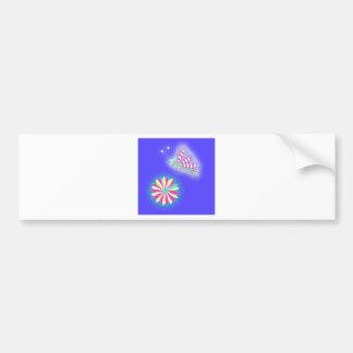 Candy Kiss Butterfly and Flower Bumper Sticker