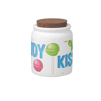 Candy Kisses Candy Jar