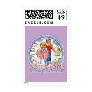 Candy Land - A Sweet Little Game Postage Stamps