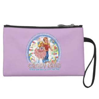 Candy Land - A Sweet Little Game Suede Wristlet