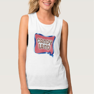 Candy Land Aged Logo Flowy Muscle Tank Top