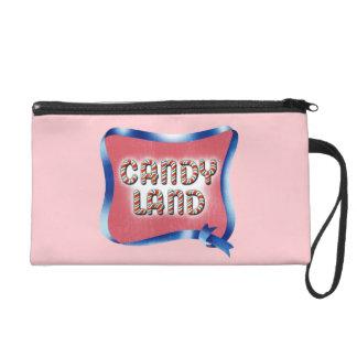 Candy Land Aged Logo Wristlet Purse