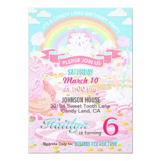 Candy Land Birthday Invitations