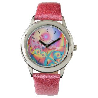 Candy land, cute custom name watch