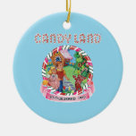 Candy Land Established 1945 Double-Sided Ceramic Round Christmas Ornament