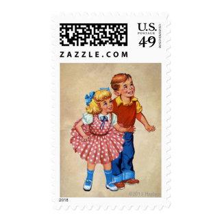Candy Land Kids Postage Stamp