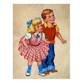 Candy Land Kids Postcard