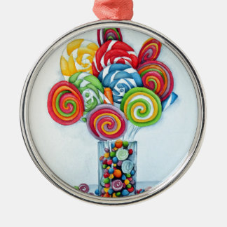 Candy land metal ornament