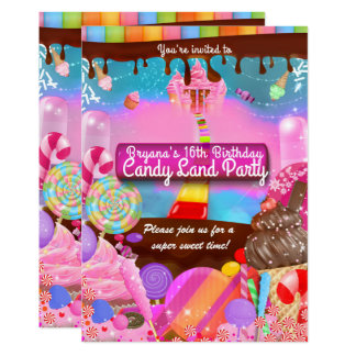 Candy Land Party Fantasy Birthday Personalized Card