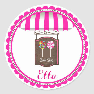 Candy Land Sweet Shop Birthday Favor Stickers