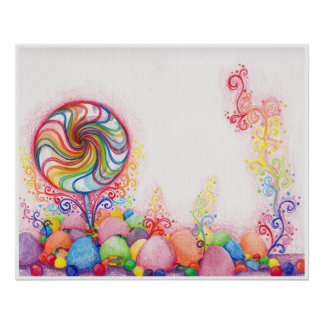 Candy Land Watercolor Print