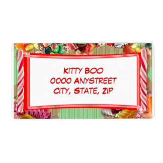 Candy Large Personalized Shipping Labels