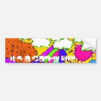Candy Life Bumper Sticker - Yellow
