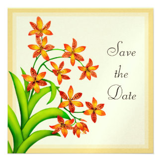Candy Lily Flowers Save the Date Invitation