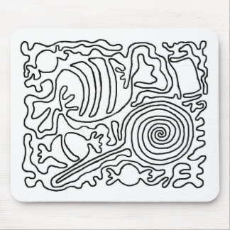 Candy line art mouse pads