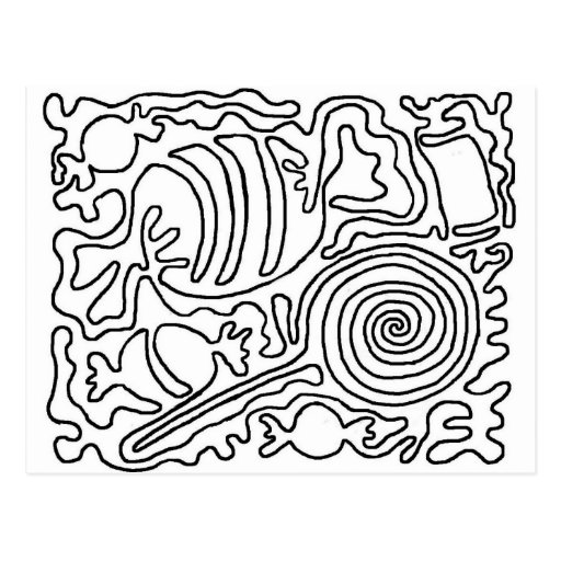Candy line art post cards