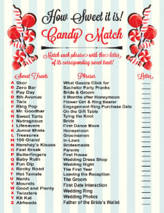 candy match bridal shower game ready to print flyer