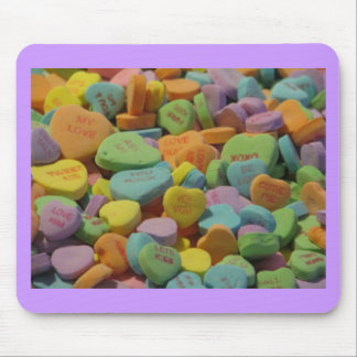 Candy Message Hearts Mousepads