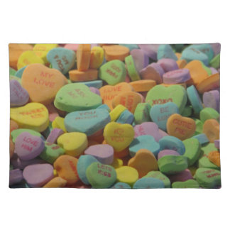 Candy Message Hearts Place Mats