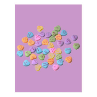 Candy Message Hearts Postcard