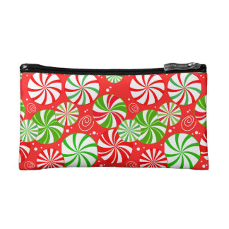 candy mint bag red green pattern